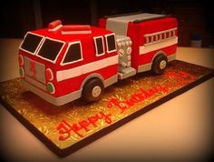 Tutorial or video for building a fire truck cake support and structure