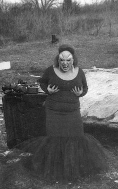 Divine on the set of John Waters' Pink Flamingos