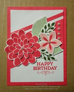 Stampin' & Scrappin' with Stasia: Flower Patch Inkredible Color Challenge