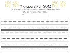 2012 goals sheet - for after break!
