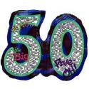 50 Mylar balloon #balloons #milestone #birthday www.gofunnybones.com