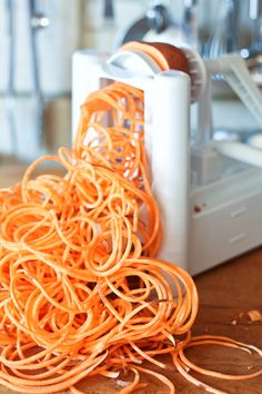 A vegetable spiralizer...for sweet potatoes, zucchini ribbons, shredded carrots...the possibilities are endless.