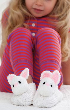 DIY Bunny Slippers | Knit Bunny Slippers