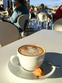 Cappuccino, Café at the Acropolis Museum, Athens, Greece