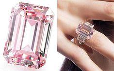 O Perfect Pink tem 14,23 quilates, tinha preço estimado em R$ 43,6 milhões (US$ 19 milhões) e foi arrematado por um comprador anônimo por R$ 53 milhões (US$ 23,1 milhões) Reprodução/The Telegraph
