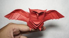 Origami Owl tutorial - DIY (Henry Phạm), My Crafts and DIY Projects paperowls Origami 3d, Origami Ball, Dragon Origami, Origami Mouse, Origami Videos, Origami Fish, Origami Paper Art, Origami Folding, Useful Origami