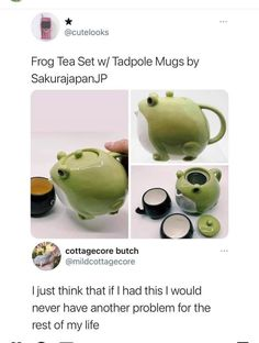 Cute Frogs, Frog And Toad, Make Me Happy, Tea Party, Cool Things To Buy, Tea Cups, Funny Memes, Dishes, Gifts