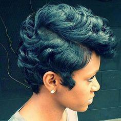 #RP @thecutlife - Just gorgeous. @mrskj5 #softcurls #pixiecut #healthyhair #beautiful #dopecut #thecutlife