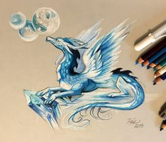 168- Ice Dragon by Lucky978.deviantart.com on @DeviantArt