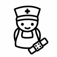Zuster Nurse Decals, Dramatic Play, Colouring Pages, Get Well, Silhouette Cameo, Illustration Art, Doodles, Printables, Art Prints