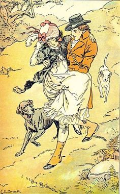 Took her up in his arms without farther delay, and carried her down the hill - Sense and Sensibility, 1908