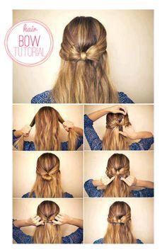 Hair bow tutorial�7�3 -girl hair styles�1�5  -girl hair styles