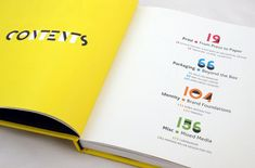 """""""Damn Good Design"""", table of contents—love the numbers."""