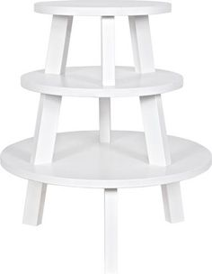 Meerdere ronde tafels als salontafel