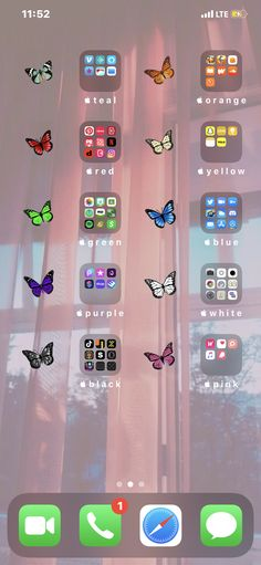 Iphone Home Screen Layout, Iphone App Layout, Iphone App Design, Iphone Wallpaper App, Iphone Wallpaper Tumblr Aesthetic, Iphone Background Wallpaper, Iphone Wallpaper Orange, Homescreen Wallpaper, Icones Do Iphone