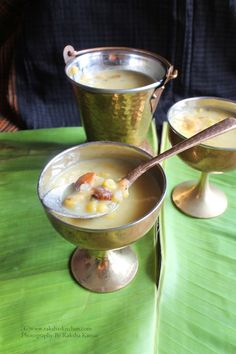 Manganem | Goan Chana Dal Sweet Dish For Diwali Ingredients:                                                           Prep. Time: 1 hr, Serves: 4  2 cups freshly grated coconut 1 cup chana dal / Gram dal ½ cup sabudana / Sago pearls 1 cup grated jaggery  20 cashewnuts 1 tbsp ghee