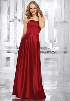 Save money by buying your morilee bridesmaid dresses online. OffWhite offers the entire Mori Lee bridesmaid dress collection at unbelievable prices and super fast shipping. Satin Bridesmaids Gowns, Mori Lee Bridesmaid Dresses, Red Bridesmaids, Bridal Dresses, Flower Girl Dresses, Bridesmaid Ideas, Grey Prom Dress, Satin Gown, Satin Dresses