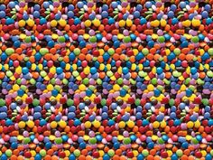 Magic Eye Stereogram - Candies