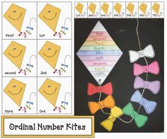 Classroom Freebies: Ordinal Number Kite Activities