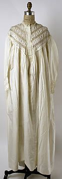 Collection | The Metropolitan Museum of Art..Nightgown  Date: 1860s  Medium: cotton