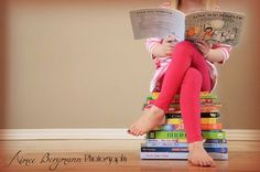 Reading Aimee Bergmann Photography - Photography Books - Ideas of Photography Books - Reading Aimee Bergmann Photography Little Girl Photography, Toddler Photography, Book Photography, Indoor Photography, Back To School Pictures, School Photos, Baby Pictures, Baby Photos, Family Pictures