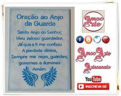 Quadro - Oração do anjo da Guarda http://amocarte.blogspot.com.br/