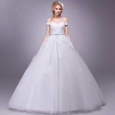 Cheap wedding gowns, Buy Quality bride wedding dress directly from China bride wedding Suppliers: Cheap 2017 New V Neck Off The Shoulder Bride Wedding Dress Floor-length Organza Lace Up Wedding Gown with Lace Appliques Vestido Wedding Bride, Wedding Events, Wedding Gowns, Cheap Wedding Dress, Lace Applique, Off The Shoulder, Ball Gowns, Lace Up, V Neck