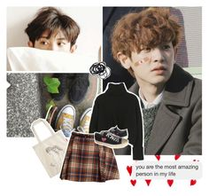 """""""My boy is so sweet. <3"""" by rocio-kim ❤ liked on Polyvore featuring Comme des Garçons and H&M"""