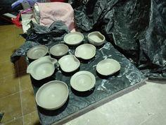 My pieces!  Plates ceramic