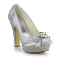 I LOVE LOVE LOVE THESE....... $41.91 Elegant Women's Wedding Shoes With Faux Pearls and Chunky Heel Design