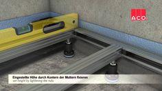 Bodensystem ACO Showerfloor Linienentwaesserung