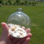 Home made holiday ornaments. Bring the beach to your tree or wreath.