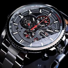 Steel Mechanical Wrist Watches for Men Cheap Watches For Men, Cool Watches, Wrist Watches, Stylish Watches, Men's Watches, Luxury Watches, G Shock, Steampunk, Automatic Watches For Men