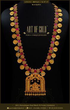 Gold Necklace Simple, Gold Jewelry Simple, Antique Jewellery Designs, Gold Jewellery Design, Gold Temple Jewellery, Coimbatore, Mango Mala, Pendants, Ring
