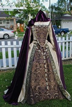 Custom Medieval Tudor Renaissance Gown Wedding or Costume...Cape, Jewelry and Gown: