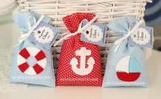 denizci lavanta keseleri Baby Boy Birthday Cake, Party Giveaways, Lavender Bags, Nautical Baby, Happy B Day, Party Time, New Baby Products, Diy And Crafts, Sewing Projects