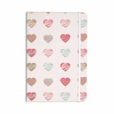 "afe images ""Pastel Hearts Pattern"" Pink Red Illustration Everything Notebook from KESS InHouse 