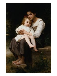 The Elder Sister by William Adolphe Bouguereau