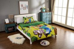 3/4PCS cartoon bedding sets 100% cotton kids bed linen with duvet cover+fitted sheet+pillow case set
