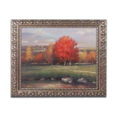 Trademark Fine Art Sunset Canvas Art by Daniel Moises, Gold Ornate Frame, Size: 16 x 20