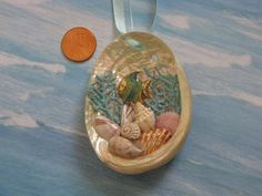 Abalone Shell Ornament Fish Beach Decor by TheSleepySeahorse