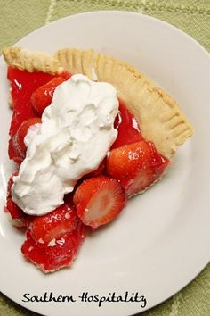 Homemade Strawberry Pie like Shoney's | Southern Hospitality