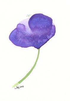 Art Print Giclee Print of Watercolor Flower by karenfaulknerart - - da etsy - karen faulkner