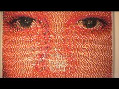Amazing push pin art, a portrait made all out of. Push Pin Art, Photo Pin, Videos, Pointillism, Cool Posters, Stop Motion, Art Techniques, Art Lessons, Amazing Art