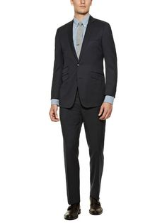 Wool Pinstripe Suit by Ben Sherman Suiting on Gilt.com