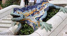 Reptil Parc Guell Barcelona - Modernisme - Wikipedia