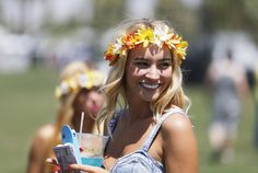 Flower child Bryana Holly, 20 of Huntington Beach on Day 1 of the Coachella Music and Arts Festival.