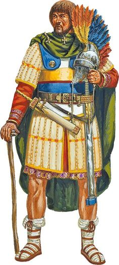 Roman officer from between 284-337 AD. ~ art by Giuseppe Rava