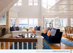 window seat in living room for more seating / Coastal Living Room - Traditional - Living Room - Other Metro - Michael McKinley and Associates, LLC Beige Living Rooms, Cottage Living Rooms, Eclectic Living Room, Coastal Living Rooms, Living Room Designs, Living Room Decor, Coastal Homes, Dining Room, Chic Beach House