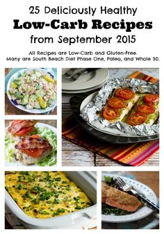 25 Deliciously Healthy Low-Carb Recipes from September 2015 featured on KalynsKitchen.com. (Low-Carb, Gluten-Free, South Beach Diet, Paleo, Whole 30)